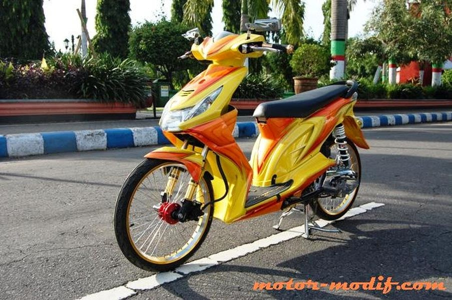 Modifikasi Airbrush Honda Beat