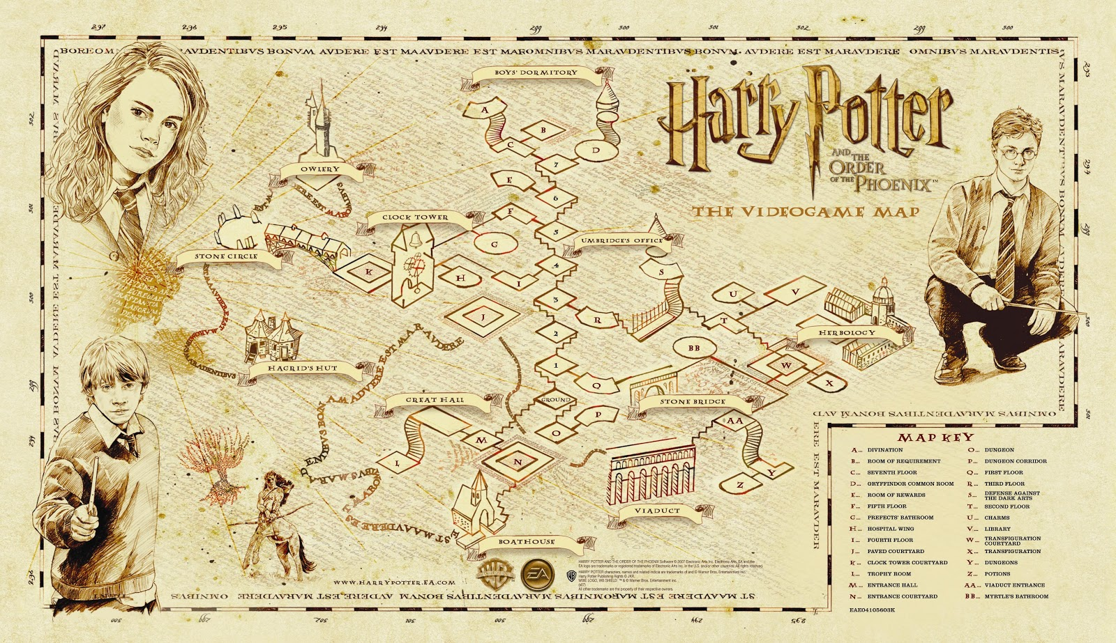 Nerdovore: Fantasy World Maps: Harry Potter