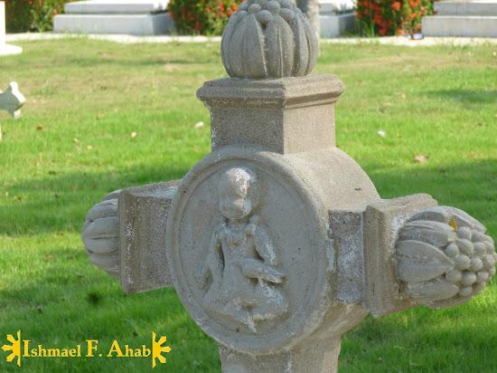Grave marker near St. Joseph Church, Ayutthaya Historical Park