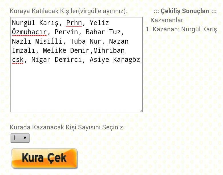 Setrms Eşarp Kime Gitti , Endlessharing