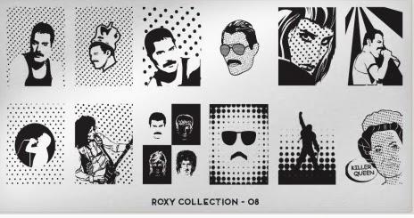 Freddie Mercury placas de estampación uñas mouyou