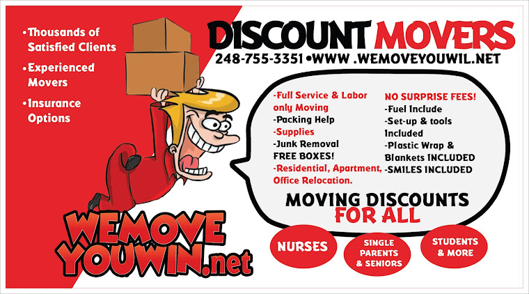 WEMOVEYOUWIN 248-755-3351 DISCOUNT MOVERS