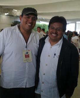 Con Adelfo Regino, Secretario de Asuntos Indígenas-Oaxaca