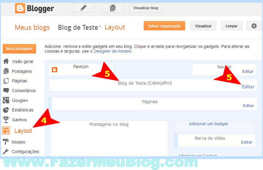passos pra colocar logo no blogger com interface atualizada