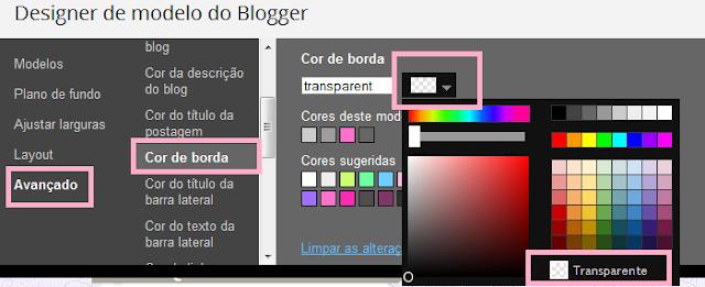 Como tirar a borda das imagens do blog