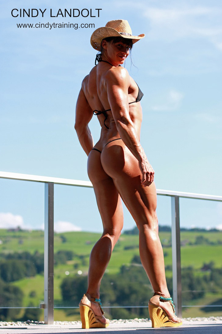 Cindy Landolt Posing Her Great Butt, Legs And Fit Body