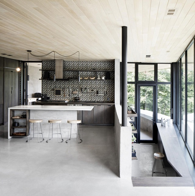 Casas minimalistas y modernas casa minimalista en un area for Casa rural minimalista
