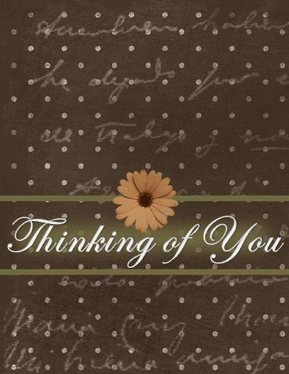 Gratifying image with printable thinking of you cards