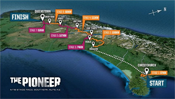 The Pioneer: Course Map Overview