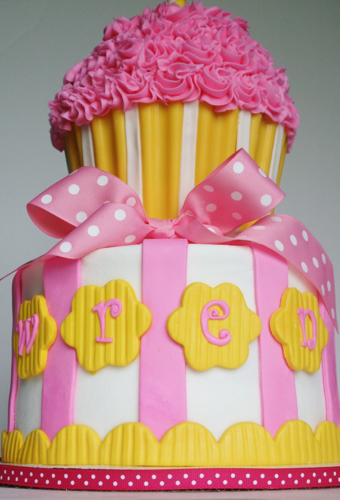 And Everything Sweet Pink And Yellow Cupcake Theme