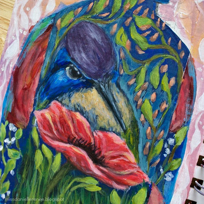 hummingbird painting art journal