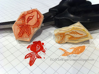 Goldfish stamp carved by Ida Chan, Vancouver BC