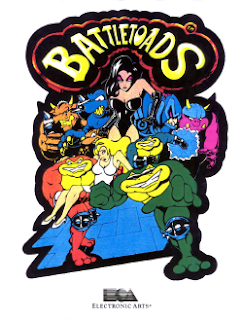 Battletoads arcade game portable flyer