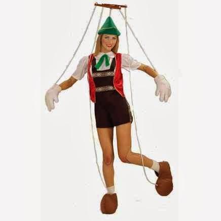 Disfraz de Pinocho Marioneta Chica