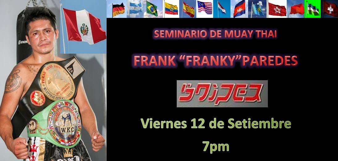 Seminario de Muay Thai con Frank Paredes este viernes en el Sniper