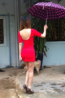 Votey Teav Khmer Girl Sexy Red Robe 12