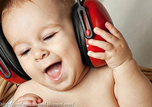 Baby music fan.