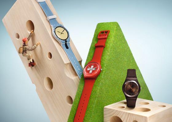 relógios de pulso Swatch masculinos e femininos com pulseiras de silicone