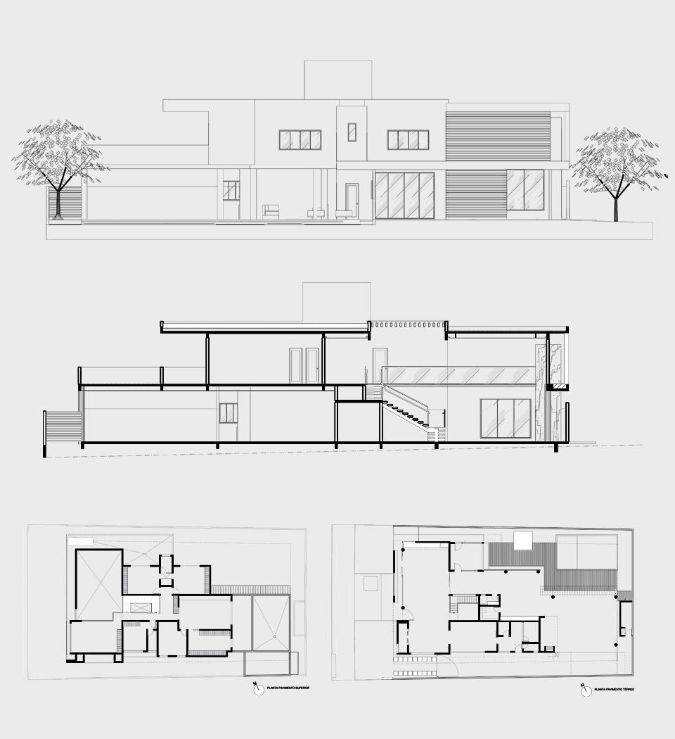 15 fachadas de casas modernas com plantas veja projetos for Fachadas casas dos plantas