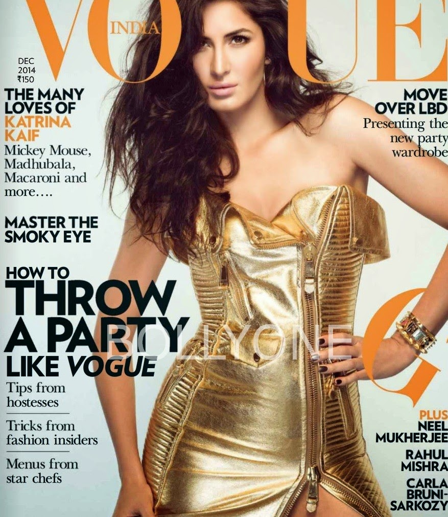 Katrina Kaif Cover Girl Pictures of Vogue Magazine December 2014