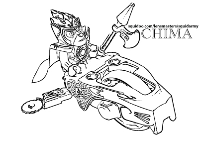 Lego Chima Coloring Pages Squid Army