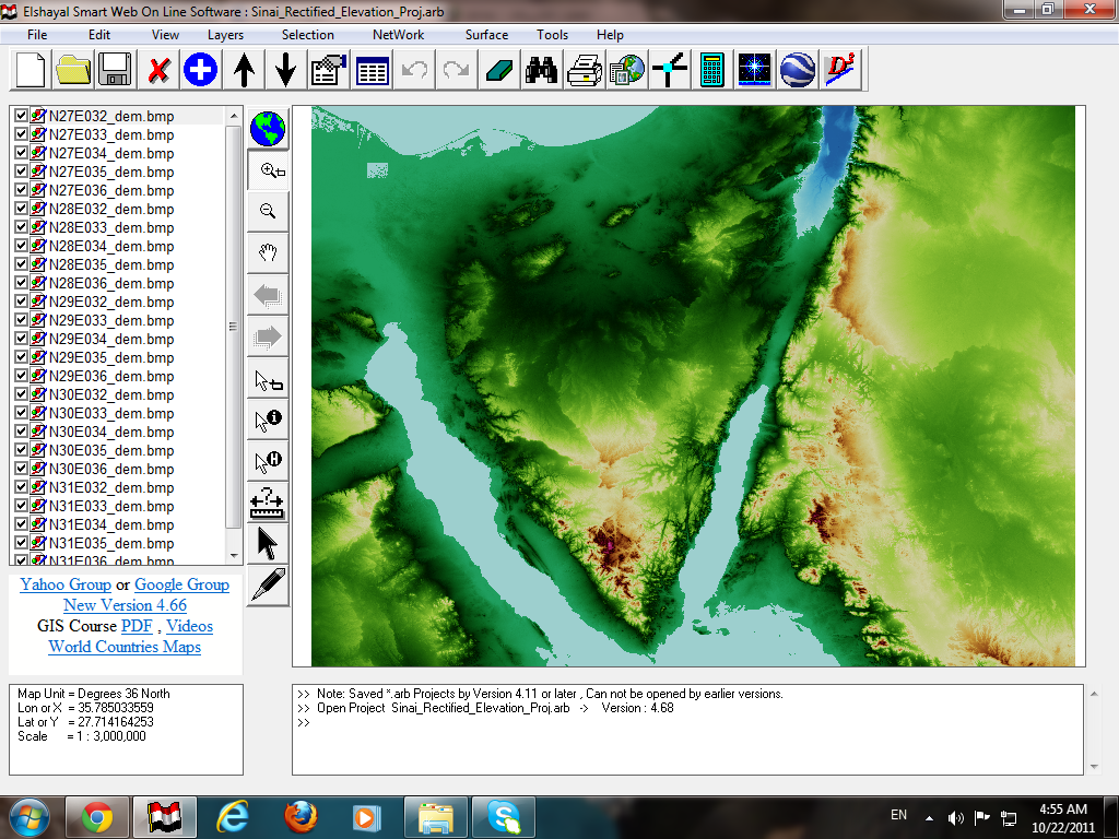GIS Software Arab Coders First African Arabian Egyptian GIS GPS - Map of egypt elevation