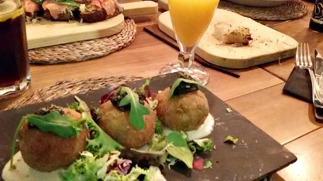 Restaurante Mamá Chicó en A Coruña. Mi receta Arancini light.