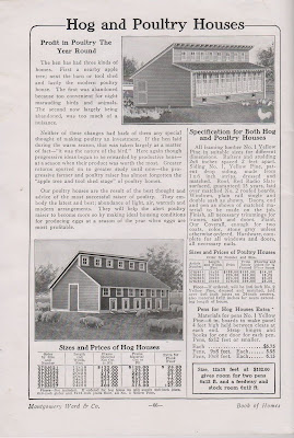 Montgomery Ward Kit Housing for Pigs and Chickens