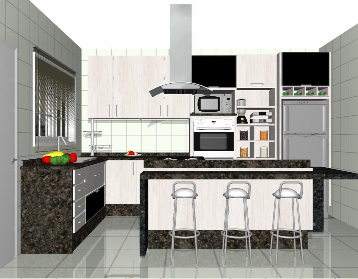 Ilha Em Cozinha Pequena Cozinha Pequena Com Ilha Projeto Cozinha