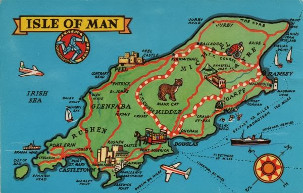 A Postcard A Day Isle Of Man Maps On Monday - Isle of man map