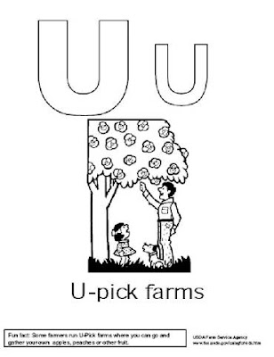 Preschool Coloring Pages, Alphabet Coloring Pages