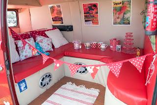 Classic camper van interior