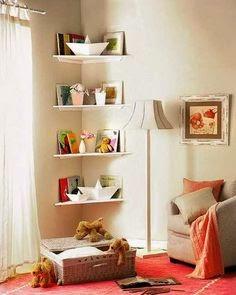 Toy Storage Corner Shelves For Small Kids Room