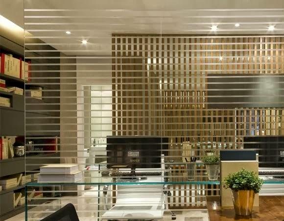 decoracao de interiores para escritorios:- Corretora de imóveis : Designer de interiores para escritório de