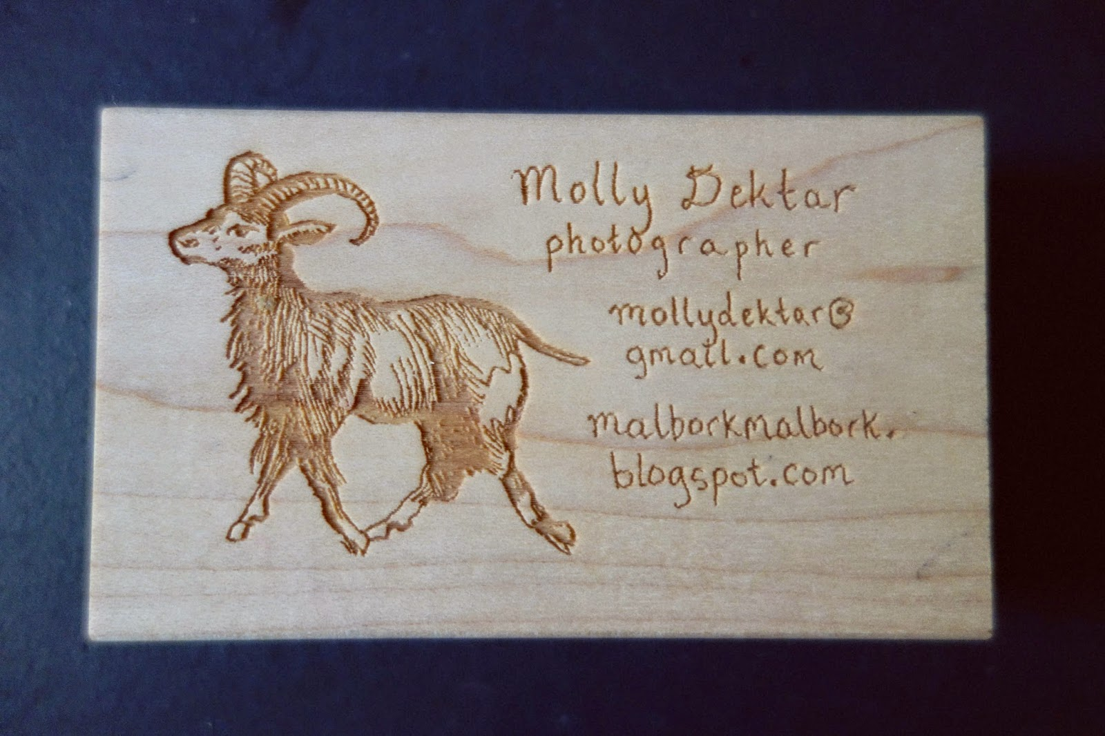 diy rubber stamp business card (on rubberstamps.net!)