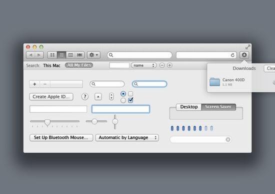 Lion OSX UI Kit PSD