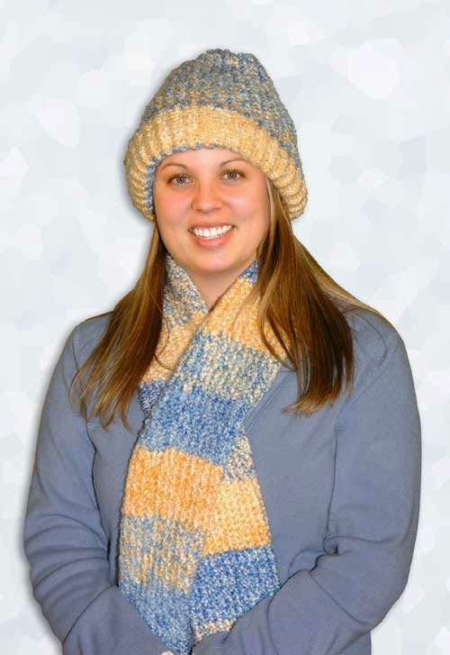 Knifty Knitter Matching Hat and Scarf