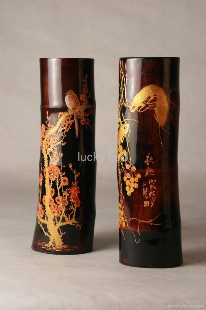 Bamboo worktops photos vase painting