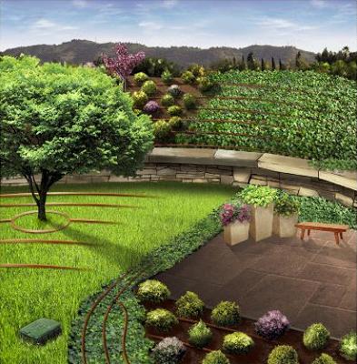 Base paisajismo un sistema de riego por goteo 100 rain bird for Aspersores para riego de jardin