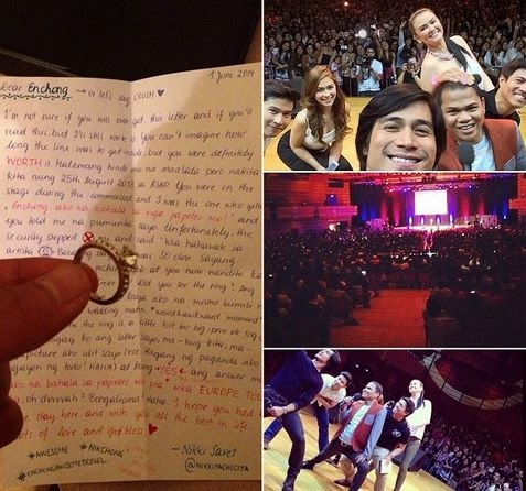 Enchong Dee on Vienna, Austria received a proposal letter from a fan named Nikki Savet