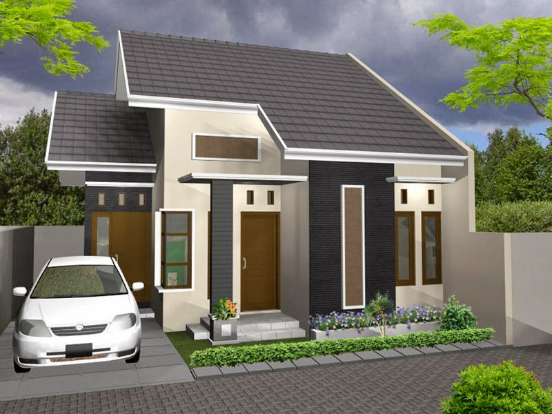 Model Depan Rumah Minimalis tampak depan