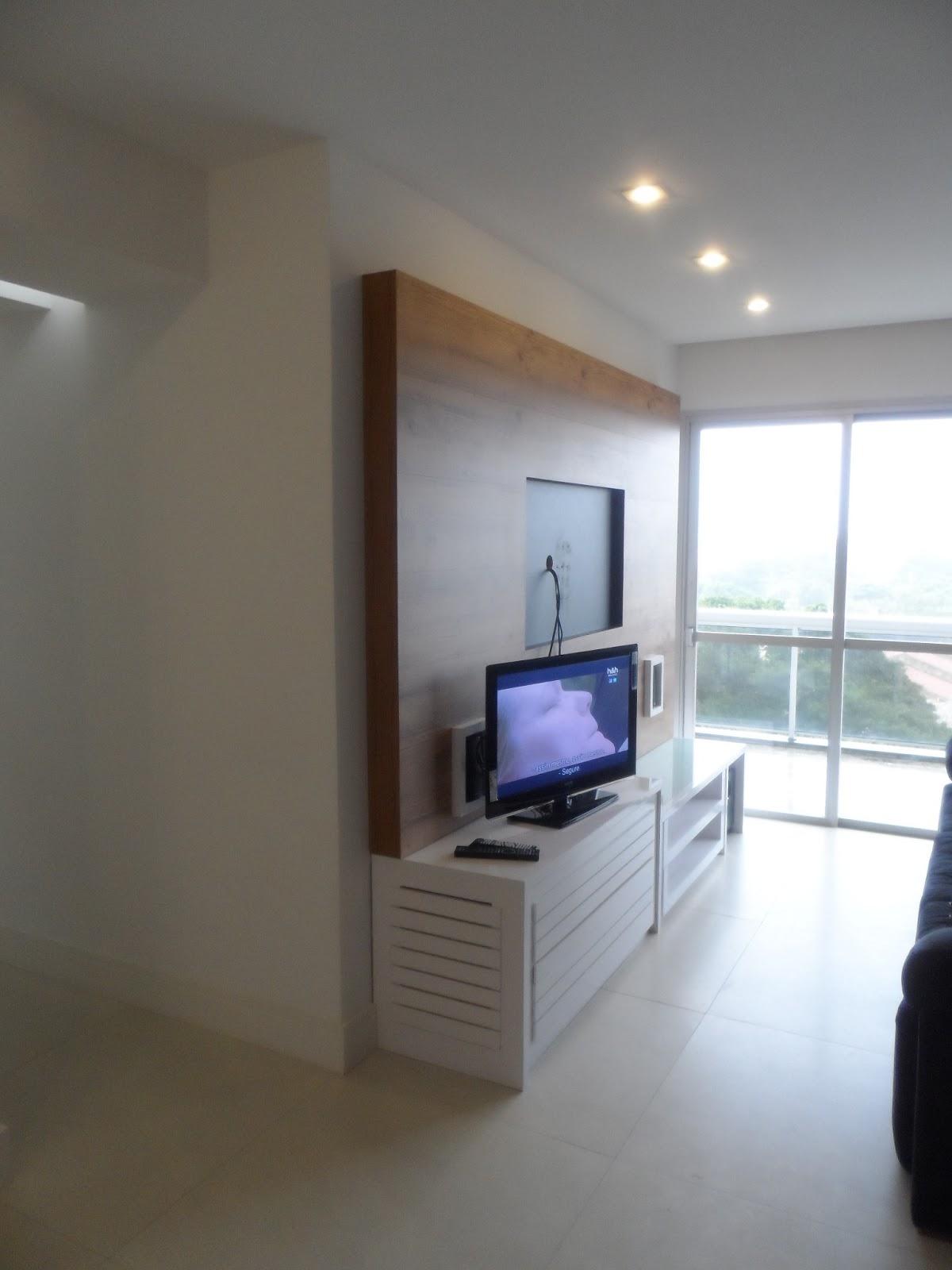 Gesso Na Sala De Tv ~   arquitetura APARTAMENTO RECREIO  SOLUÇÃO PARA UMA SALA PEQUENA