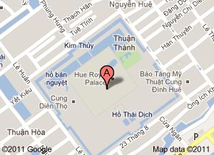 Mapa de la Ciudadela de Hue