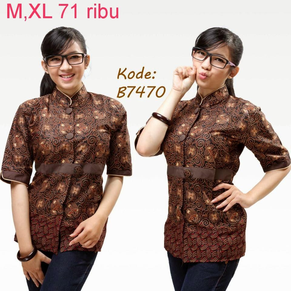 Model Batik Untuk Wanita Aktif Batik Model Terbaru Untuk Kerja Model