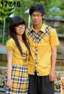kemeja-couple-romantis-kuning