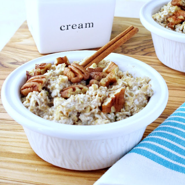 Over Night Banana Bread Oatmeal  from Simply Healthy Family