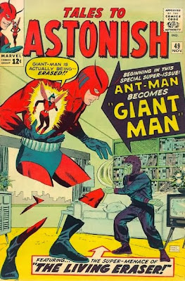 Tales to Astonish #49, Giant Man v the Living Eraser