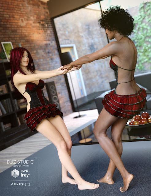 Ruffle Teddy HD pour Genesis 2 Femme