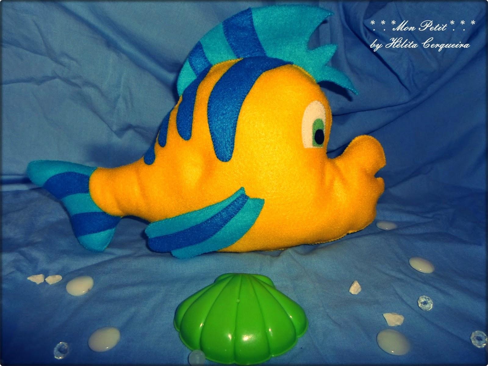 fundo do mar-decoração-aniversário-feltro-pequena sereia- linguado