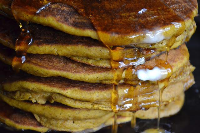 Seven Grain Pumpkin Pancakes